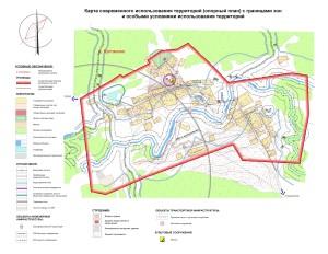 Карта современного использования территории(опрный план) д.Кулганино ЭВ