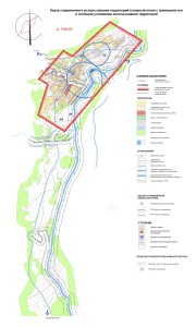 Карта современного использования территории(опрный план) д.Саргая ЭВ